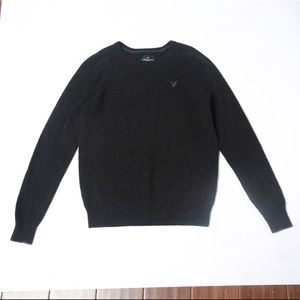 Black speckled American eagle sweater